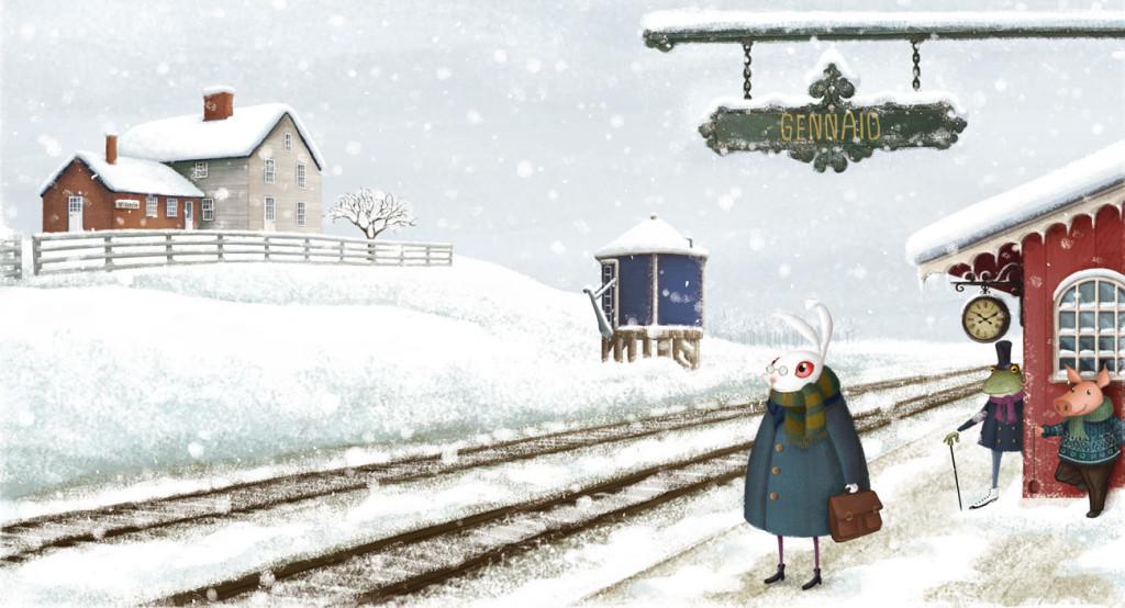 Barbara Cantini - calendar - Train station