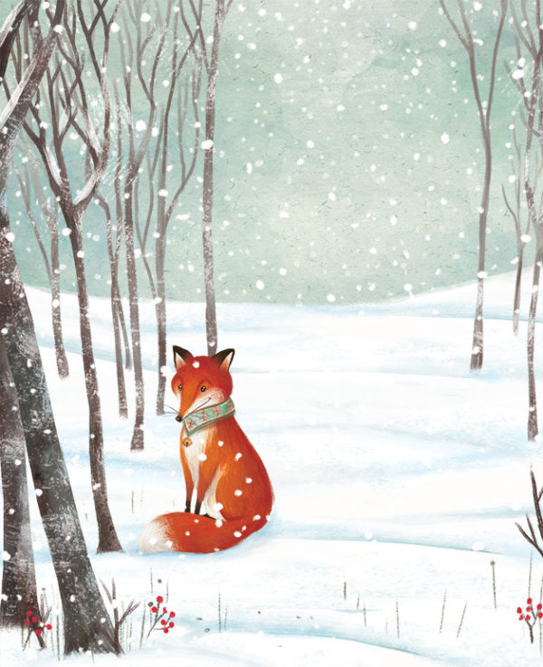 Barbara-Cantini-Illustrator - Fox in the snow